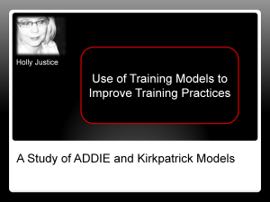 Graphic - Use of Training Models to Improve Training Practices