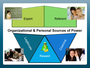 Organizational and Personal Sources of Power