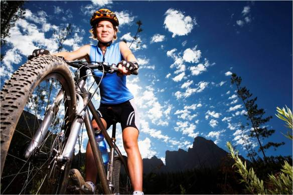 Woman on Mountain Bike